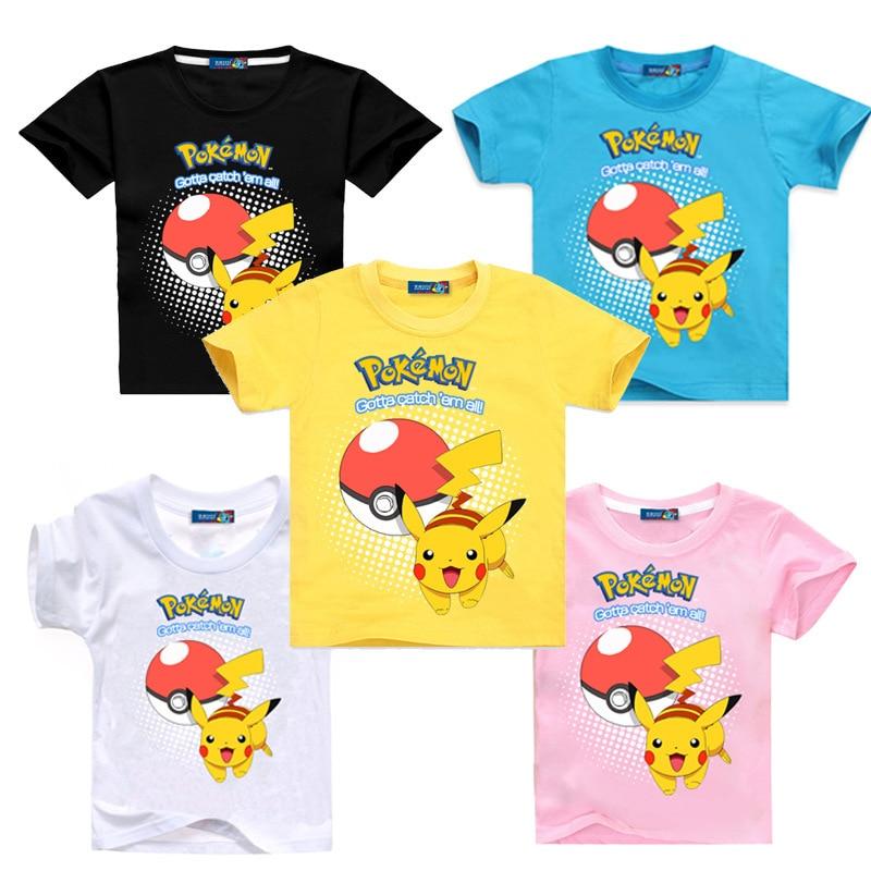 Summer Kids Boys Cartoon Printed Tops T shirts Children Short Sleeve Blouse Tee
