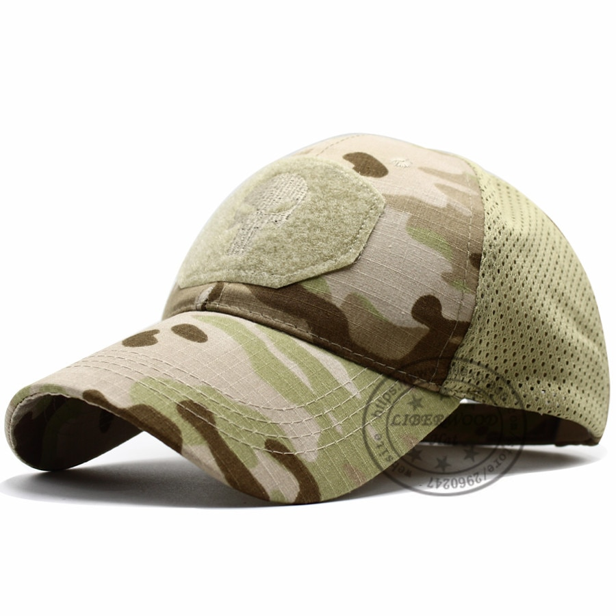 Skull Navy Seal Special Forces Baseball Hat multicam Camo Embroidered Cap unisex